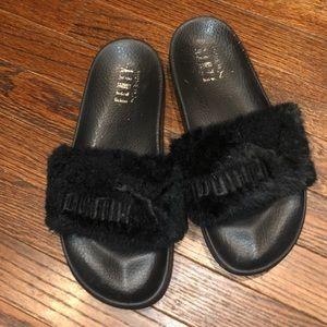 Black FENTY by Rihanna slides